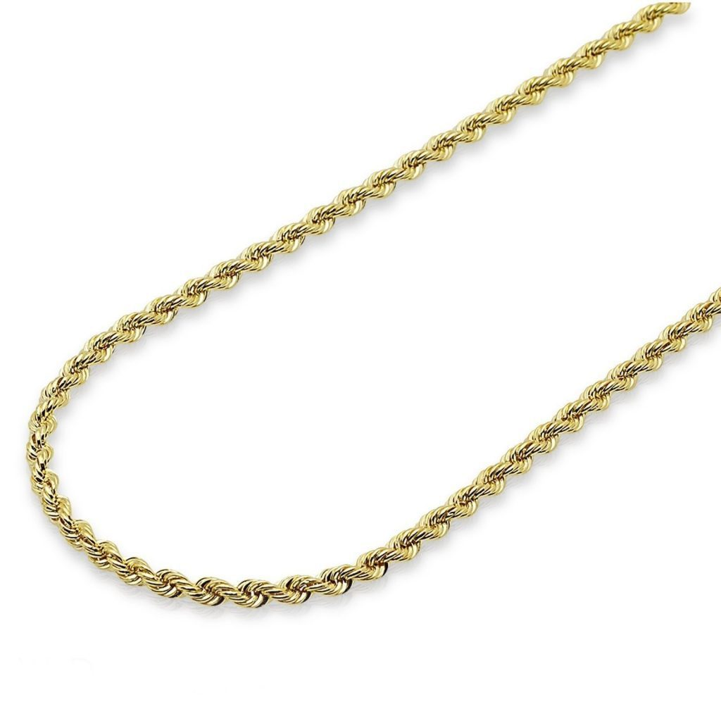 3mm with Secure Lobster Lock Clasp Solid 14k Gold Two-Tone Polished Fancy Link