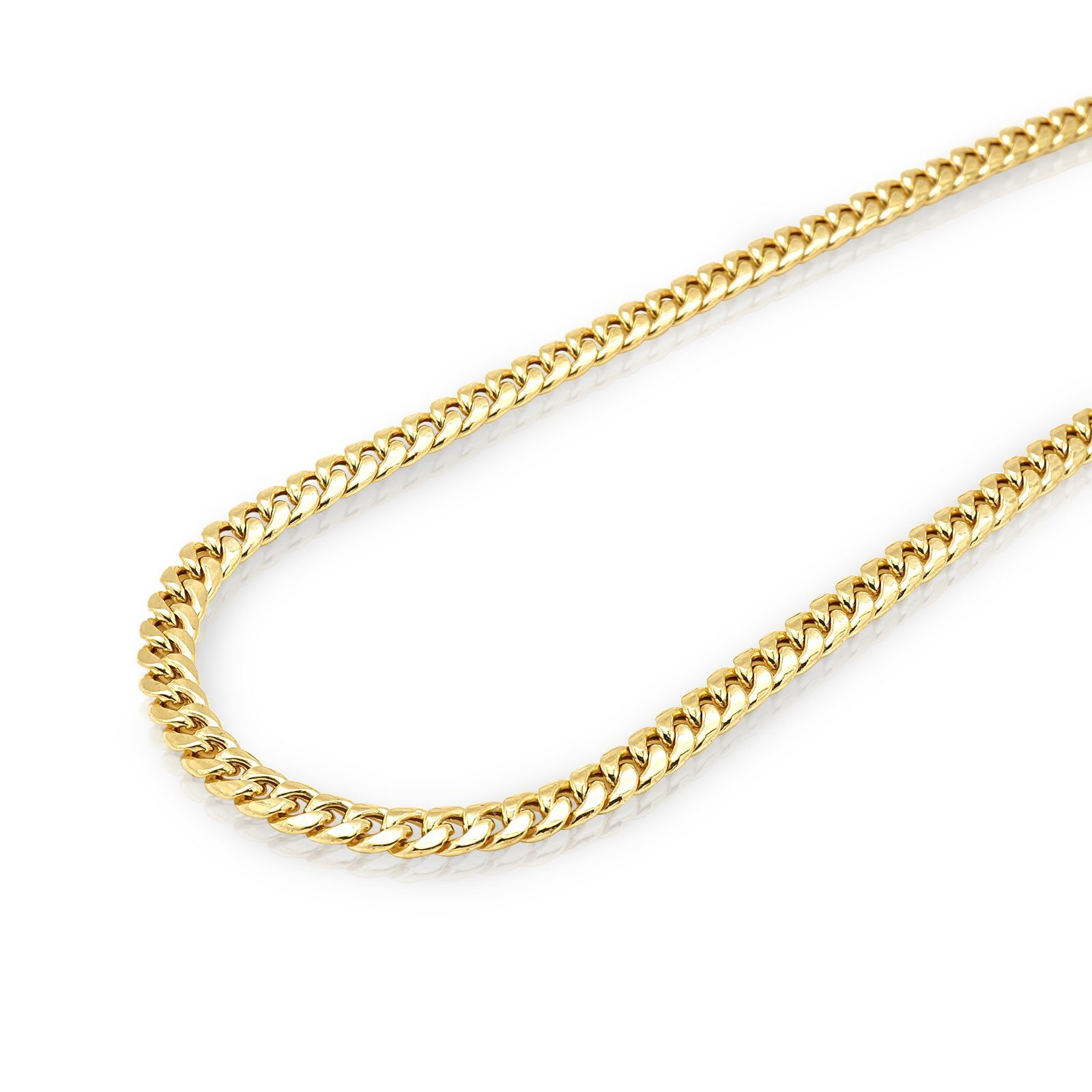 10k Gold Cuban Link Chain >> 10k Solid Yellow Gold 6mm Hollow Miami Cuban Link Chain Necklace 24