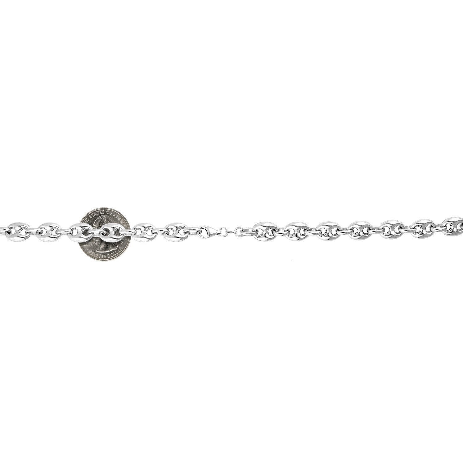 6e177a1c7a00f9 925 Sterling Silver 9.5mm Puffed Anchor Mariner Link Chain Necklace 22″-36″